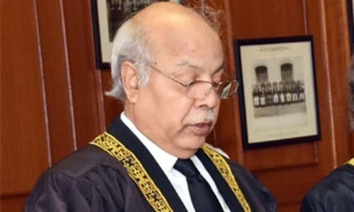 Chief Justice of Pakistan Gulzar Ahmed is hearing a suo motu case regarding measures taken to deal with Covid-19 pandemic. — SC website/File