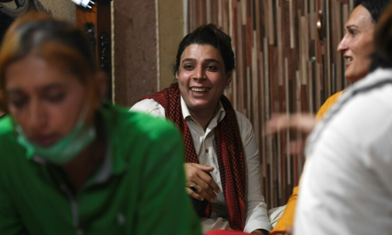 Dancing is a way of avoiding a life of begging or sex work for many in Pakistan's transgender community. — AFP