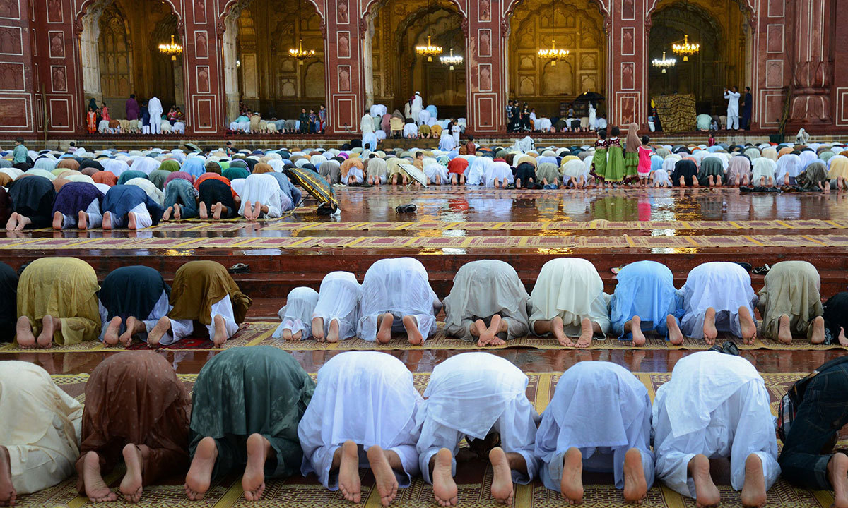 30 minutes allocated for Arabic sermon, namaz and dua; no gathering allowed beyond this. — AFP/File