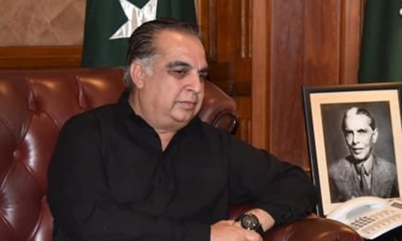 In the first media appearance after recovering from Covid-19 while staying in self-isolation for almost two weeks, Sindh governor Imran Ismail looked fresh and confident. — Twitter/File