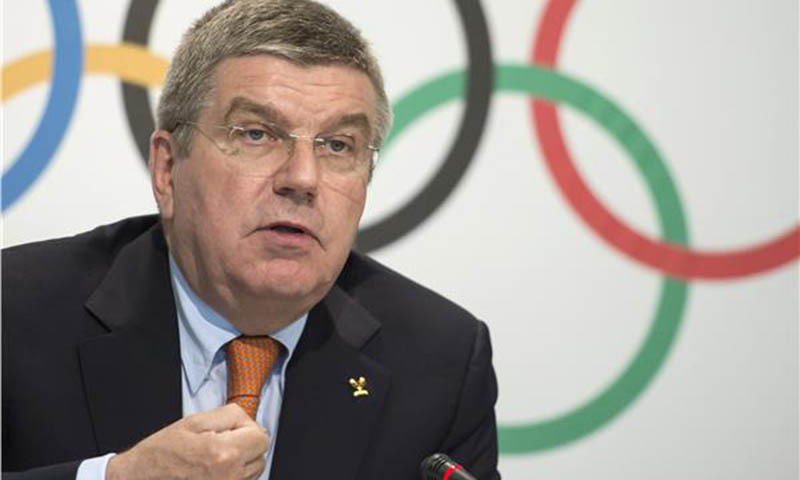 Bach says he backs Japan's stance that the Games will have to be cancelled if Covid isn't under control by next year.  — AFP/File