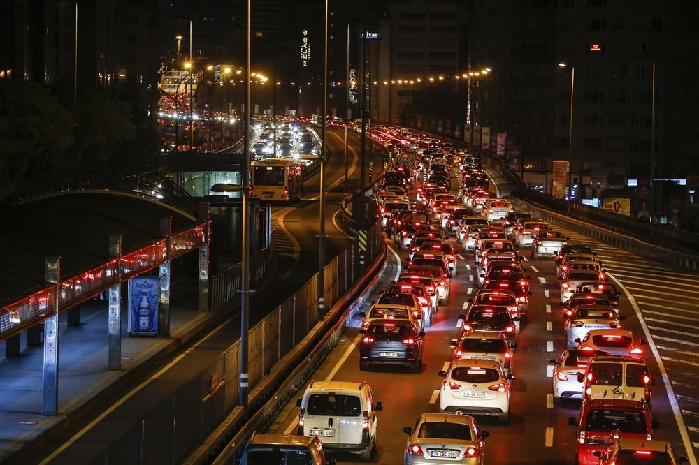 Traffic congests the roads in Istanbul, late on May 22, minutes before a four-day new curfew declared by the government in an attempt to control the spread of novel coronavirus. — AP