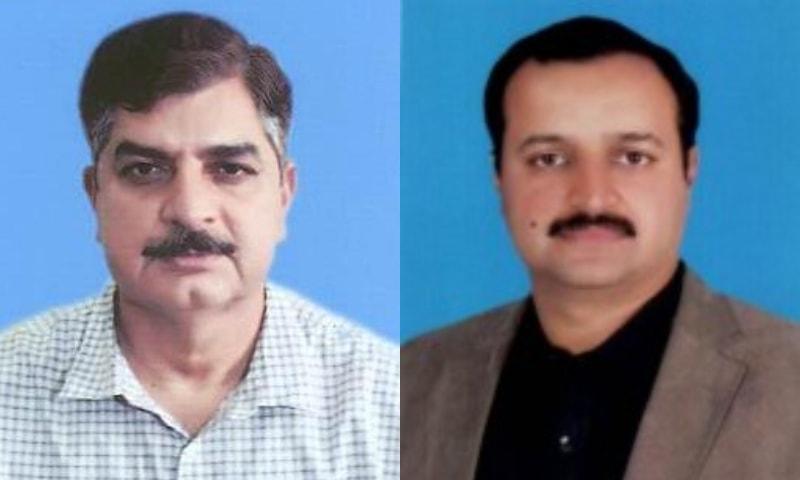 راجا راشد حفیظ اور ڈاکٹر اختر ملک — فوٹو: پنجاب اسمبلی
