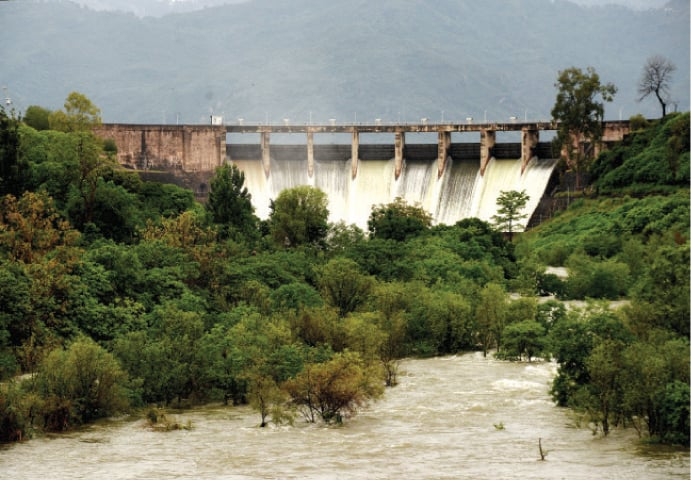 Due to regular inflow of water, the spillways of Rawal Dam were opened three times in May. The last time the dam's spillways were opened in May was back in 1992. Active rainfall in Murree also led to regular inflows in Simly Lake and its spillways were opened five times in this month. — File photo