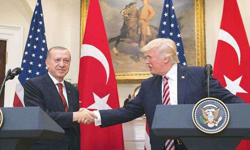 In a phone call, US and Turkish Presidents Donald Trump and Recep Tayyip Erdogan discussed coronavirus situation, developments in Libya and Syria. — AFP/File