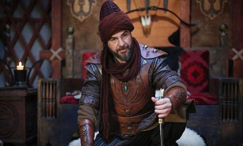ڈرامے میں ارطغرل غازی کا کردار انجین التان دوزیتان نے ادا کیا ہے—اسکرین شاٹ