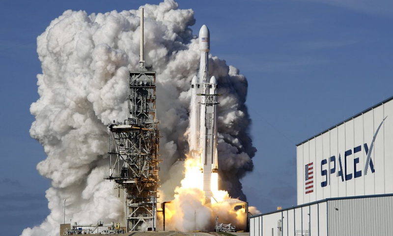 In this Tuesday, Feb 6, 2018 file photo, a Falcon 9 SpaceX heavy rocket lifts off from pad 39A at the Kennedy Space Center in Cape Canaveral, US. — AP