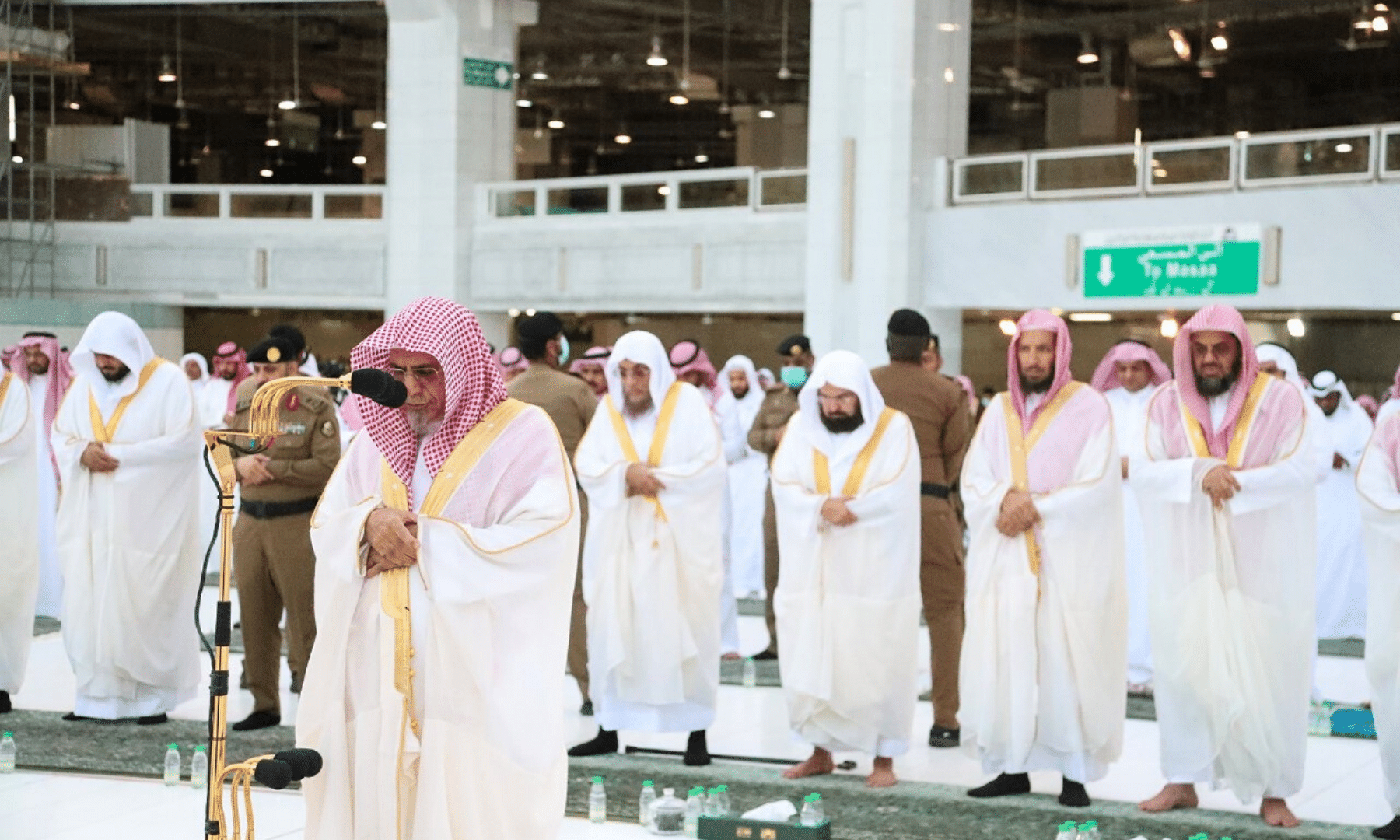The imam leads Eidul Fitr prayers at the Kaaba in Makkah. The city is under a complete lockdown and the country, last month, advised Muslims to defer Hajj plans amid the pandemic. — Saudi Press Agency
