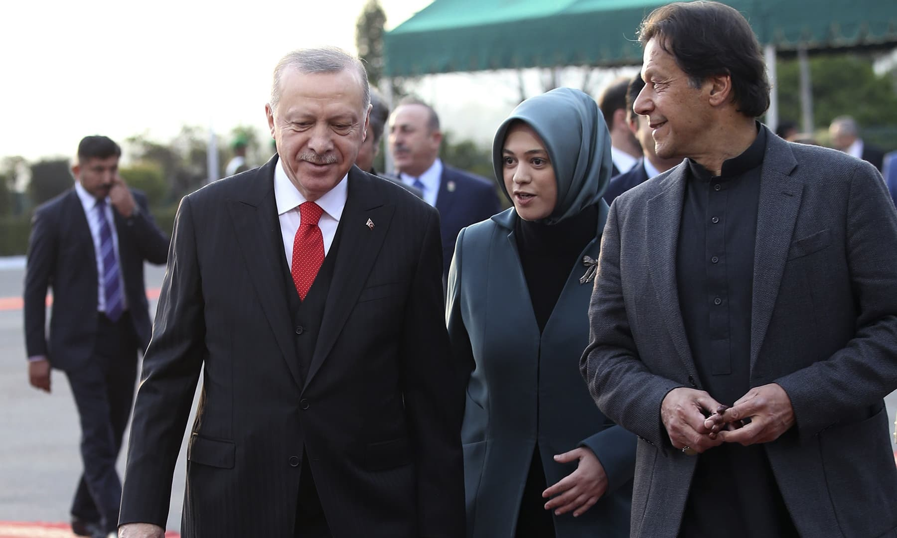 "In a telephone call to PM Imran, Erdogan exchanged Eidul Fitr greetings and also offered his condolences on the ""tragic"" plane crash in Karachi.— Turkish Presidency/AP"