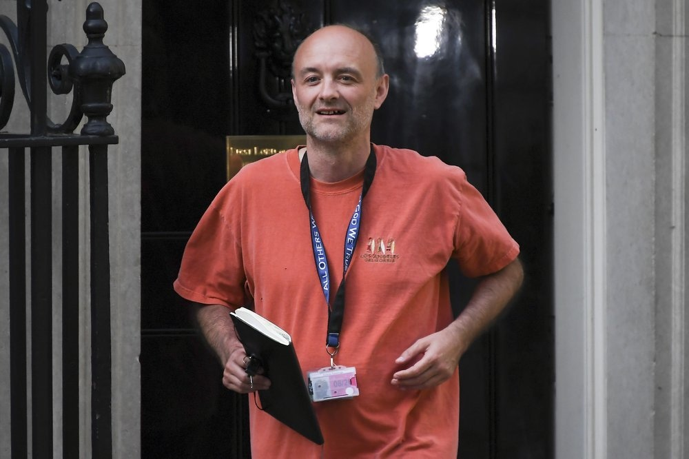In this May 24 file photo, Britain's Prime Minister Boris Johnson's senior aide Dominic Cummings leaves 10 Downing Street, in London. — AP