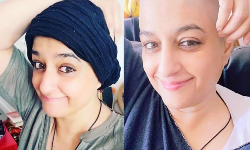 نادیہ جمیل نے کینسر کے علاج کے دوران سر کے بال منڈوا لیے