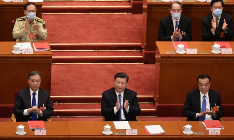 China's rubber-stamp parliament voted nearly unanimously to approve plans to impose the security law on Hong Kong. — AFP