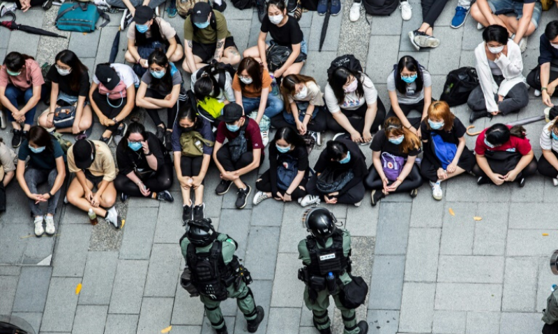"China says ""foreign forces"" are to blame for the pro-democracy momvement in Hong Kong. — AFP"