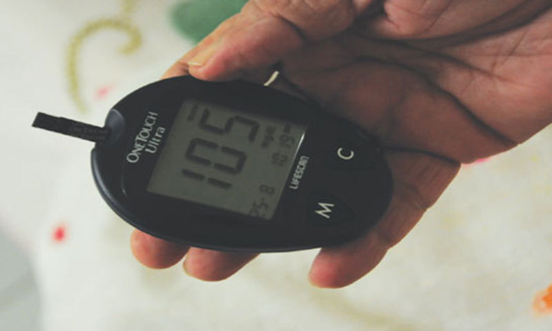 """The presence of diabetic complications and increased age increase the risk of death,"" researchers say. — Dawn/File"
