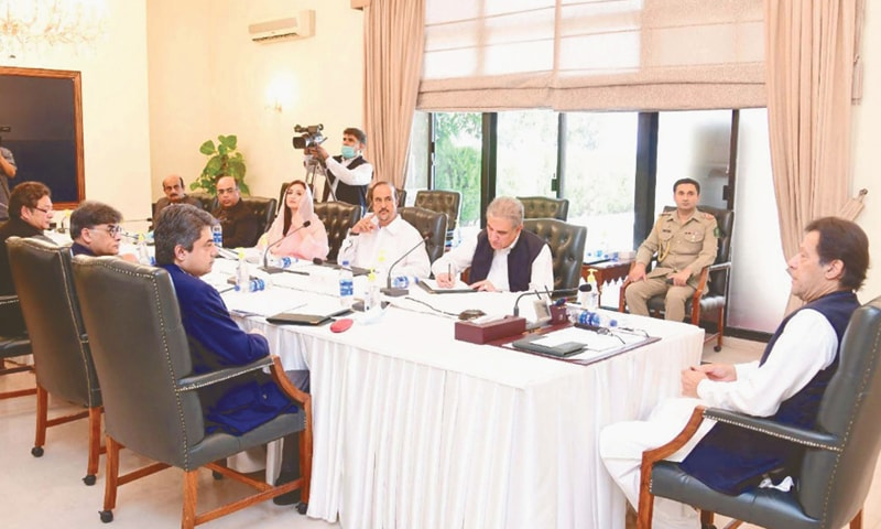 ISLAMABAD: Prime Minister Imran Khan chairs a meeting on law reforms on Friday.—PPI