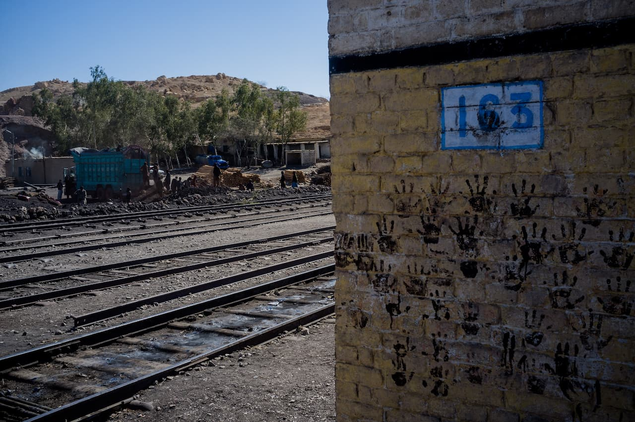 Handprints of coalminers at a railway station near Quetta | Mohammad Ali/White Star