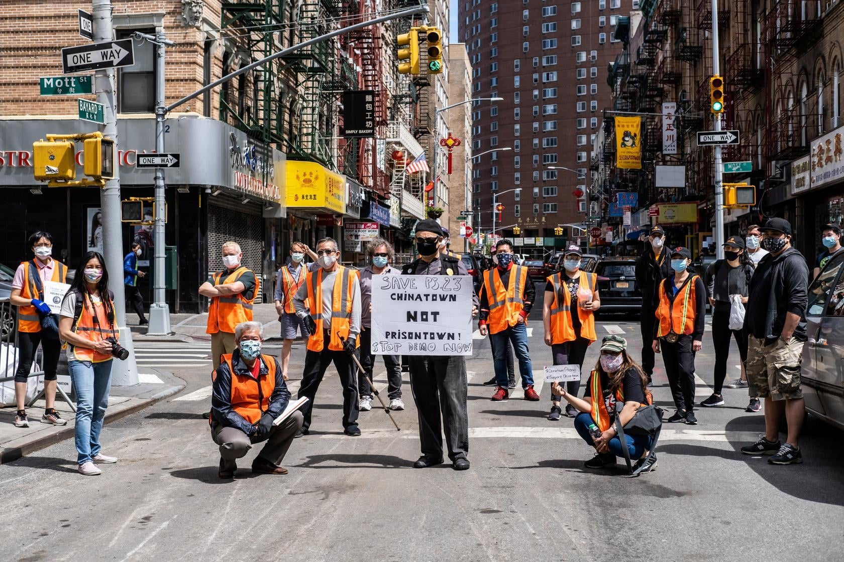 Volunteers from the Chinatown Block Watch neighbourhood patrol group pose for pictures before patrolling in Chinatown in New York City, US, May 17. — Reuters