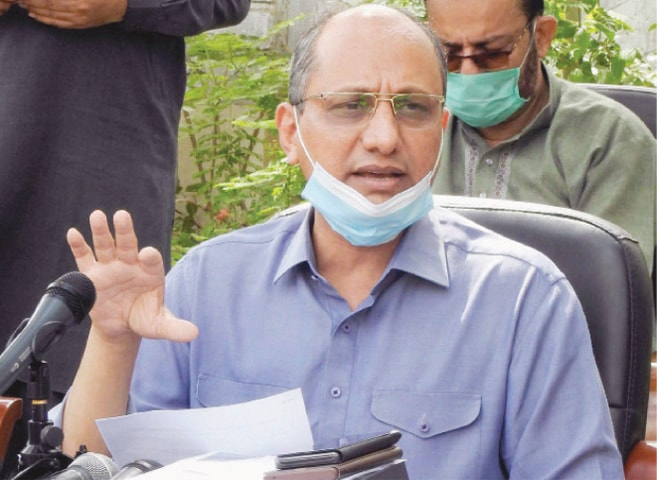 SAEED Ghani speaks at the press conference.
