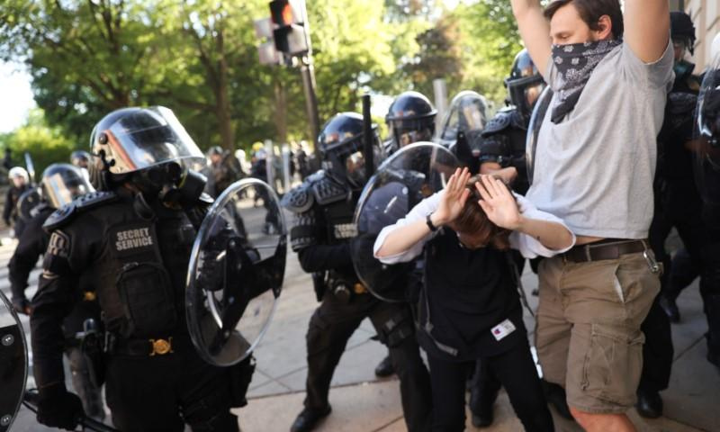 Federal Officers Fire Tear Gas at Peaceful Protesters in D.C.