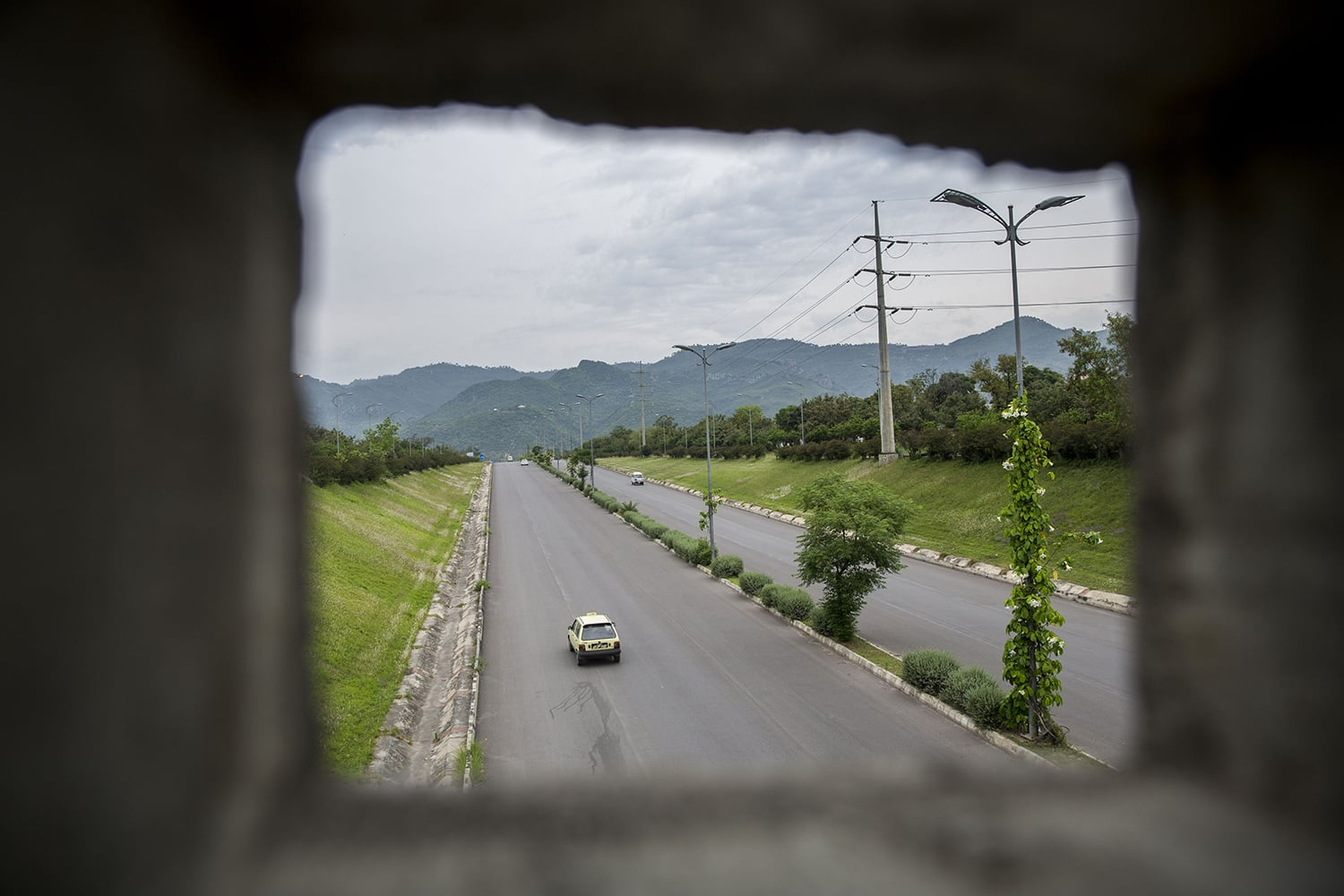 One of the busiest expressways in Islamabad after over 6-weeks of lockdown, May 3, 2020.