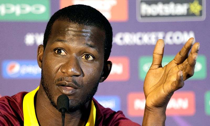"""""""Now is not the time to be silent. I wanna hear u,"""" says former West Indies captain Darren Sammy. — AP/File"""