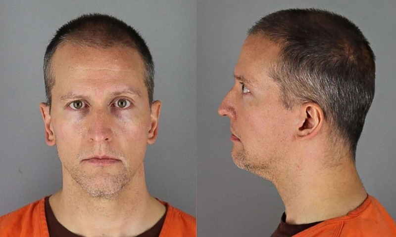 This file handout photo released by the Hennepin County Jail shows booking photos of former Minneapolis police officer Derek Chauvin. — AFP/Hennepin County Jail