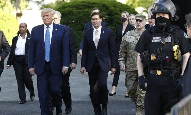 امریکا میں احتجاج پر پینٹاگون اور ٹرمپ کے درمیان تنازع سامنے آگیا