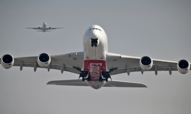 An Emirates Airline Airbus A380-800 plane takes off from Dubai International Airport in Dubai, United Arab Emirates February 15, 2019. — Reuters/File