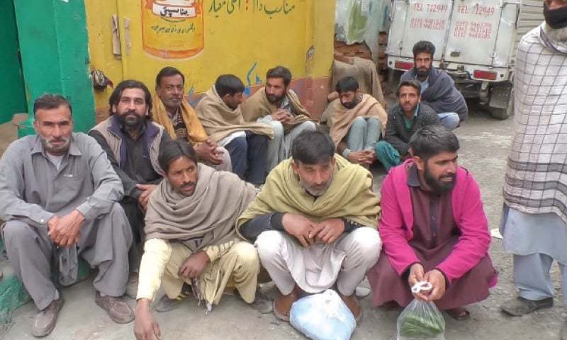 Shops sealed, transporters, commuters fined in different parts of province. — Dawn/File