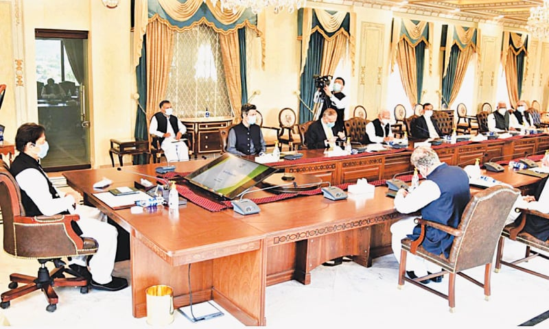 Prime Minister Imran Khan chairs a meeting on the forthcoming budget on Friday. — PPI