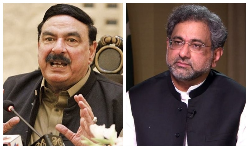 Former prime minister Shahid Khaqan Abbasi (R) and incumbent Railways Minister Sheikh Rashid have tested positive and are in isolation. — Dawn.com