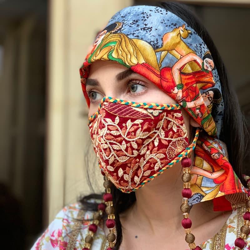 Huma Adnan's embellished masks