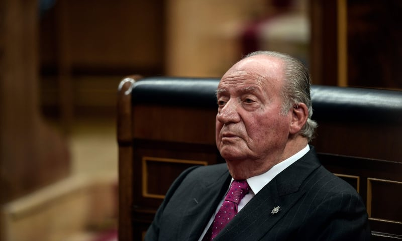 In this file photo taken on December 6, 2018 Spain's former king Juan Carlos attends commemorative acts marking the 40th anniversary of the Spanish Constitution at the parliament in Madrid. — AFP