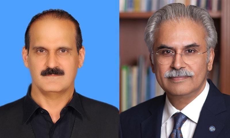 معاون خصوصی برائے صحت ڈاکٹر ظفر مرزا اور سابق وزیر صحت عامر کیانی—تصاویر بشکریہ ٹوئٹر/ قومی اسمبلی ویب سائٹ