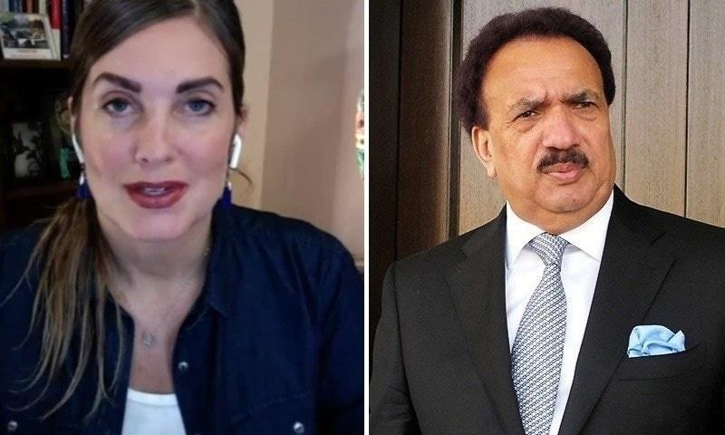 Islamabad-based American blogger Cynthia Ritchie has accused Senator Rehman Malik of raping her in Islamabad in 2011. — Screengrab/File