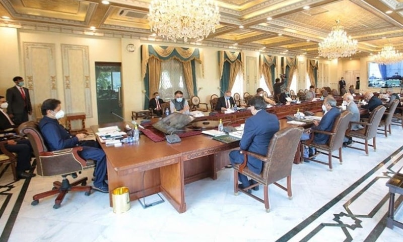 Prime Minister Imran Khan chaired the meeting of the National Economic Council in Islamabad on Wednesday. — Photo courtesy Radio Pakistan