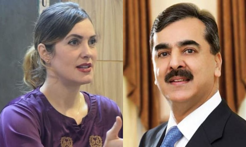 """Islamabad-based American blogger Cynthia Ritchie has accused former prime minister Yousuf Raza Gilani of """"physically mandhandling"""" her at the President's House. — Screengrab/File"""