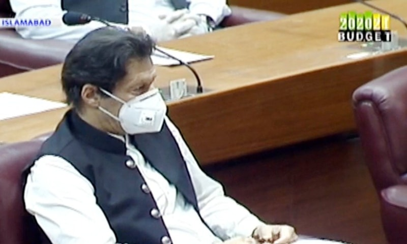 Prime Minister Imran Khan in the National Assembly. - APP Photo