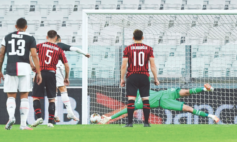 Italian football resumes in silence as Juve squeeze past Milan