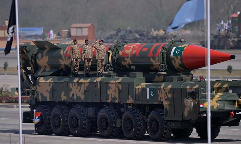 """""""Although we are aware of the designs of India, but did not increase the [allocation for] defence expenditures,"""" said foreign minister. — AFP/File"""