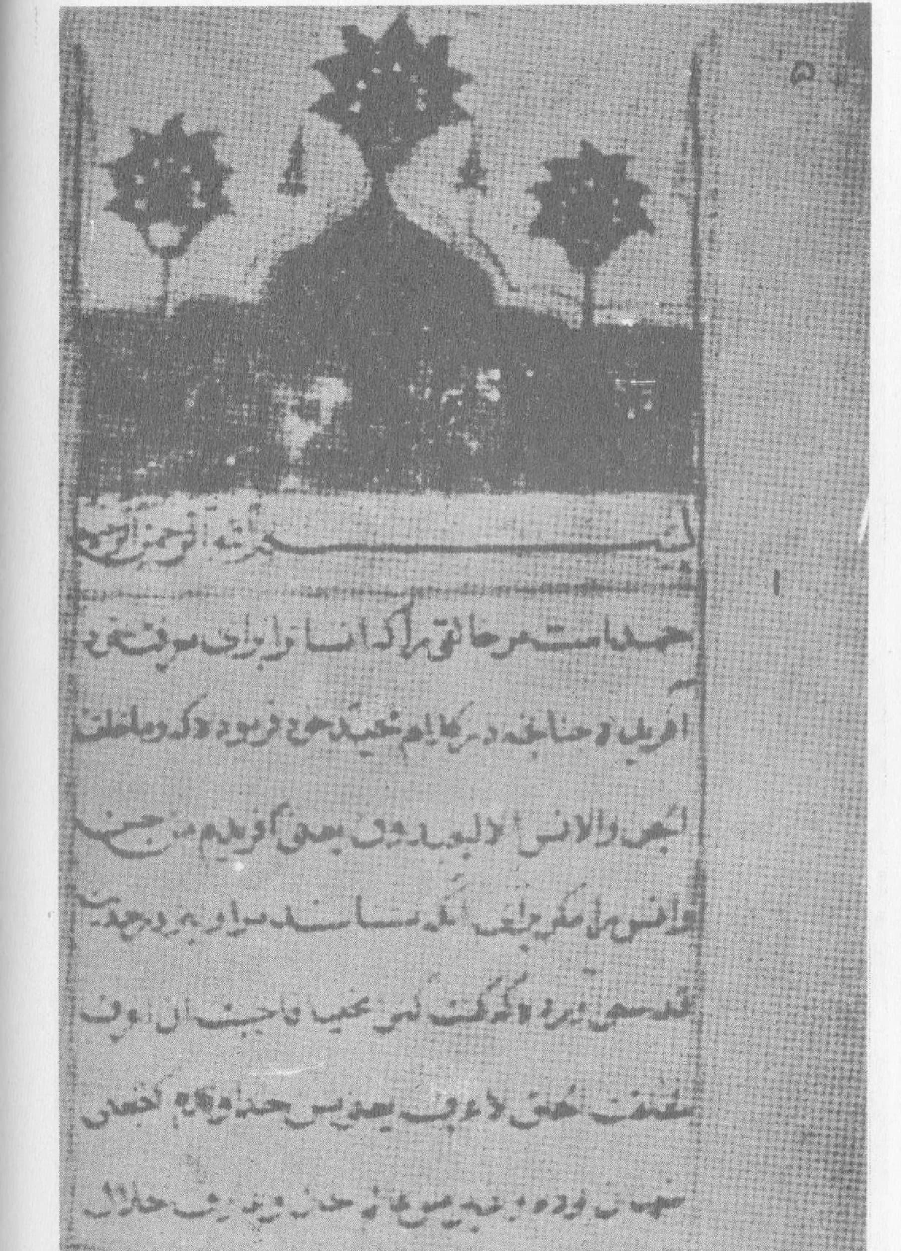 تاریخ مظہر شاہ جہانی نسخے کا ابتدائیہ صفحہ