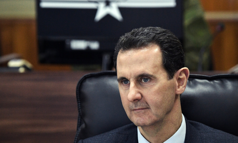 In this January 7 file photo, Syrian President Bashar al Assad listens to Russian President Vladimir Putin during their meeting in Damascus, Syria. The Trump administration is ramping up pressure on Assad and his inner circle with a raft of new economic and travel sanctions for human rights abuses. — AP