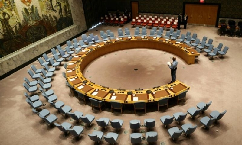 The UN Security Council room seen in 2017. — AFP