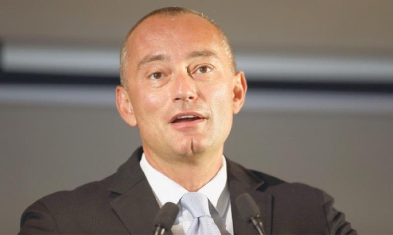 JERUSALEM: UN special envoy Nickolay Mladenov speaks during a press conference on Thursday.—AFP
