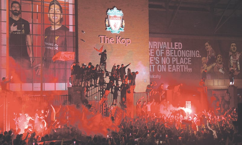 Kop joy as Liverpool seal EPL title to end 30-year drought ...