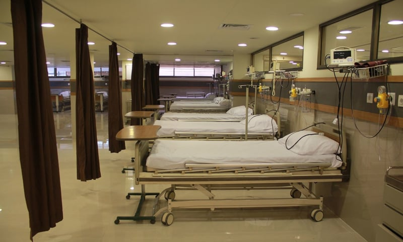 Punjab government has allocated 2,890 beds in both private and public hospitals, says Mayo Hospital chief. — Dawn/File