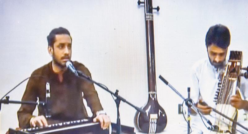 Ahsan Ali Khan performs at the festival.—White Star