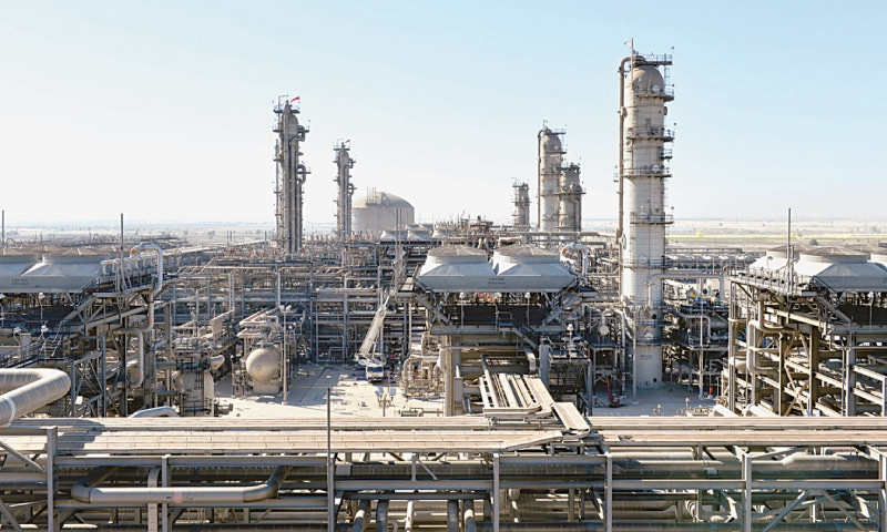 A view of Saudi Aramco's Berri Gas Plant is seen in this file photo.