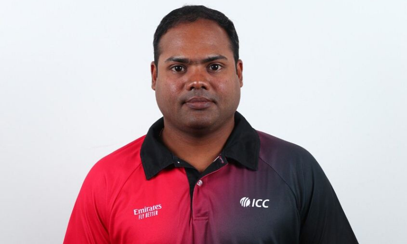 Menon gave up playing cricket when he was 22 to start umpiring and has gradually moved up the rankings, officiating in three Tests, 24 One-day internationals and 16 Twenty20 Internationals. — Photo courtesy ICC