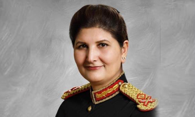 The newly appointed lieutenant general has been named Pakistan Army's first female surgeon general. — Photo courtesy ISPR